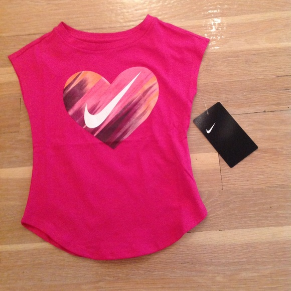 acb074c86 Nike Shirts & Tops | Girls Toddler Tshirt Size 2t Heart Swoosh ...